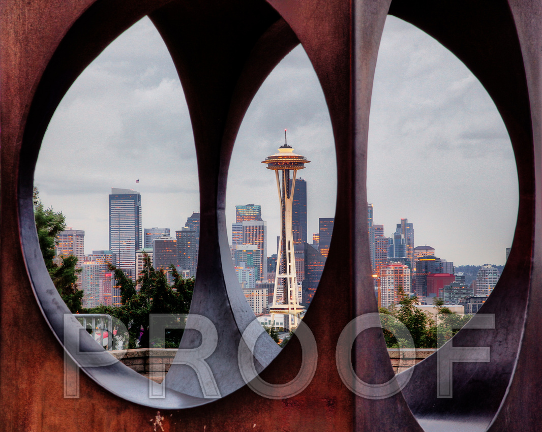 """Framed Seattle Skyline"""