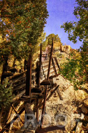 """Colorado Mountainside Sluice"""